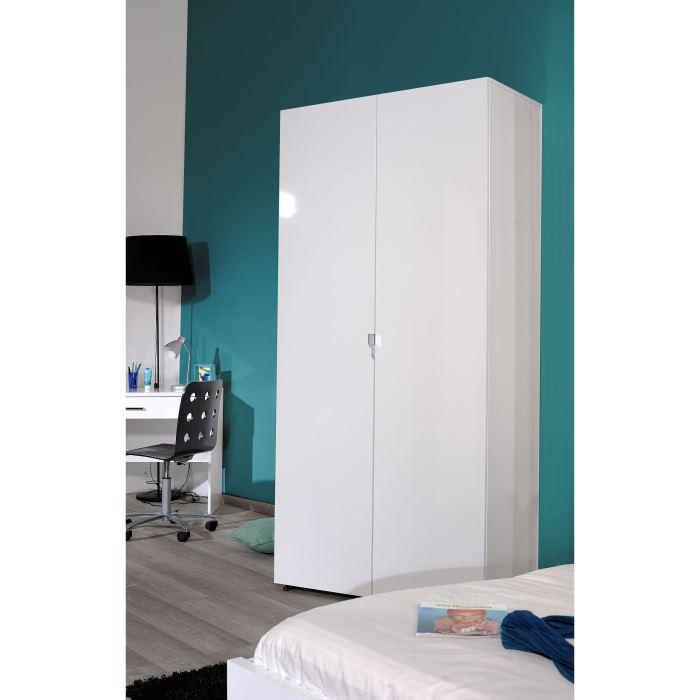 Armoire de chambre blanche armoire chambre adulte blanche design sisi armoire cabine de plage for Armoire chambre but